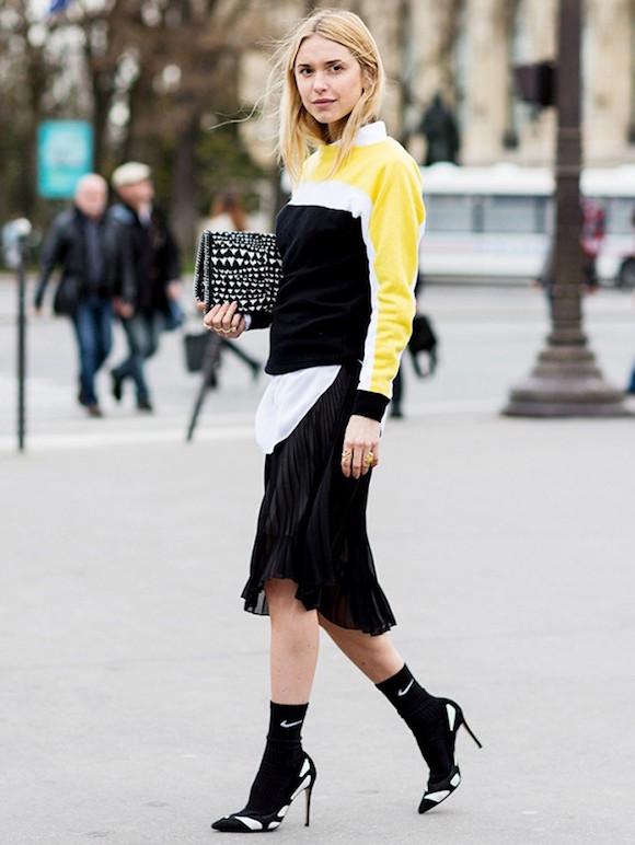 Moda Tendencia Scarpin Meia 02 Street Style