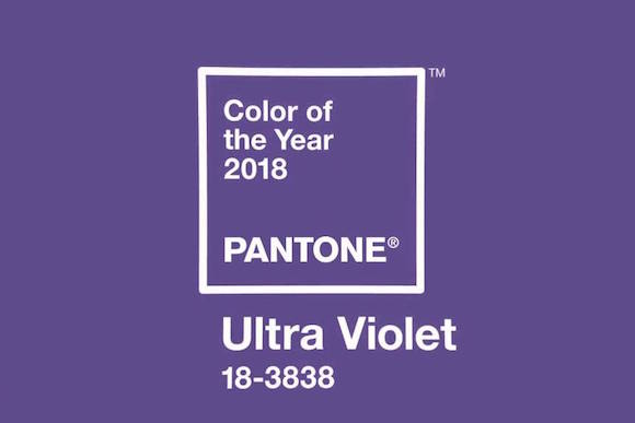 Color of the year 2018 Pantone Ultra Violet 01